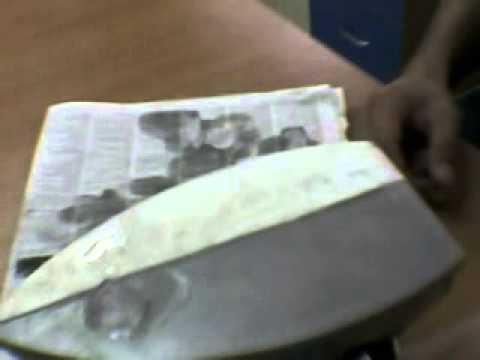 Эксперимент применение Изоллат с утюгом