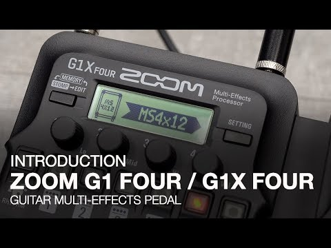video Zoom G1X FOUR Multi-effects Processor with Expression Pedal