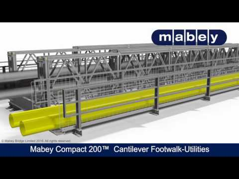 Mabey Compact 200™ Cantilever Footwalk Utilities Carrier