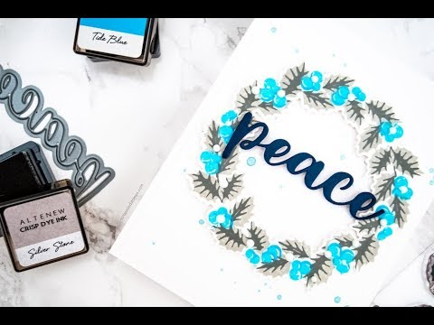 Creating Layered Wreaths Using Partial Stamps