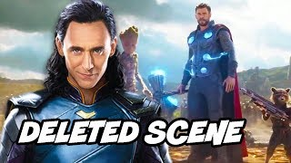 Avengers Infinity War Deleted Scene - Thor Loki and Thanos Avengers 4 Foreshadowing