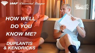 "Sam Kendricks & Armand Duplantis play ""How Well Do You Know Me?"" - Episode 1 - IAAF Diamond League"
