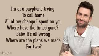 Payphone - Maroon 5 ft. Wiz Khalifa  (lyrics)