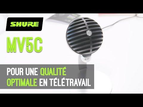 SHURE MV5C - améliorez votre son en télétravail (vidéo de La Boite Noire)