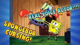 SPONGEBOB SWEARING AT MR KRABS | Real spongebob squarepants voice actor