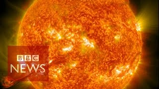Nasa captures incredible 4k images of the Sun - BBC News