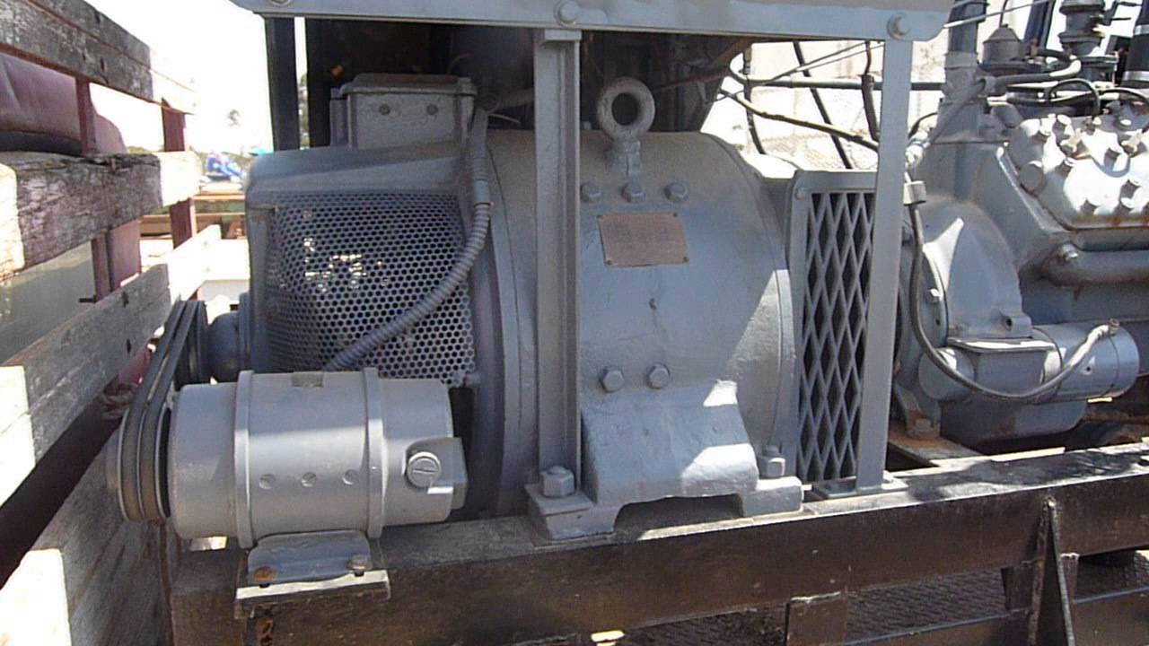 WW2 Ford flathead V8 powered 25 kVa generator