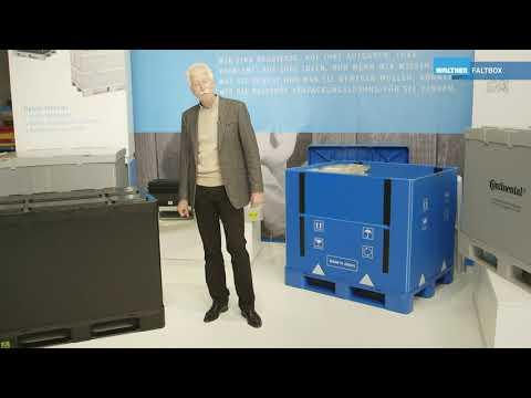 Hybox von WALTHER Faltsysteme für den Transport empfindlicher Güter