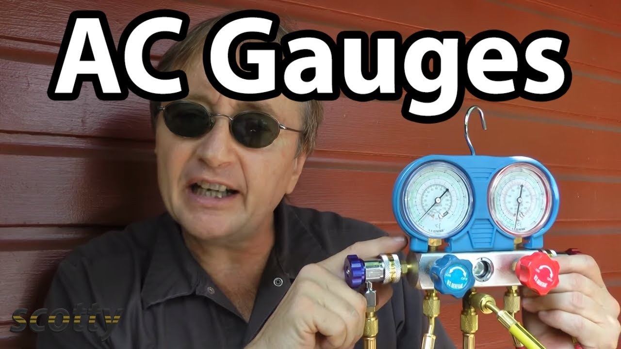 Using AC Pressure Gauges To Fix Car AC Problems - YouTube