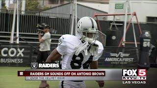 Raiders GM sounds off on Antonio Brown helmet protest