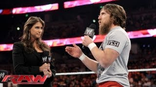 Daniel Bryan is furious with Stephanie McMahon about losing the WWE Title: Raw, August 19, 2013