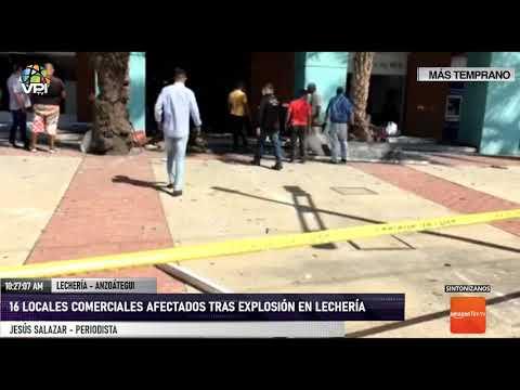 Anzoátegui - 16 locales comerciales afectados tras explosión en Lechería - VPItv