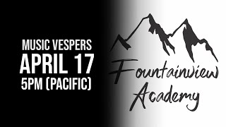 LIVE Music Vespers | April 17, 2020