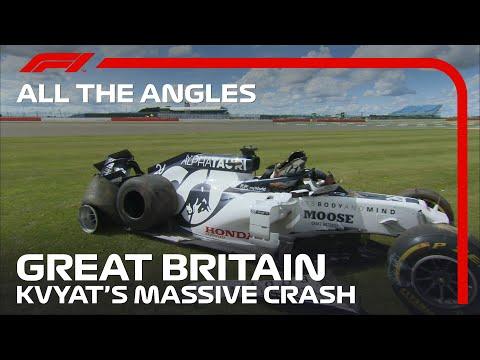 All The Angles | Daniil Kvyat's Massive Crash | 2020 British Grand Prix
