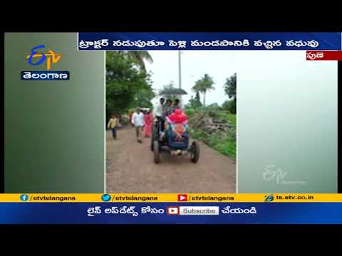 Bride drives tractor to reach wedding venue, video goes viral