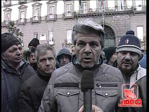 Napoli - Protesta dei dipendenti dell'ippodramo di Agnano (10.12.12)