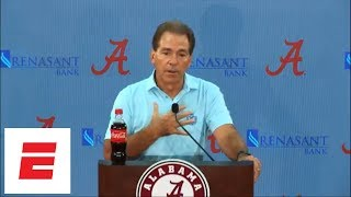 [FULL] Nick Saban press conference: Maria Taylor controversy, Alabama's starting QB and more | ESPN