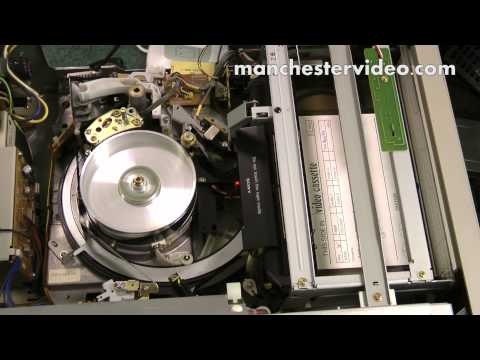 U-matic: How the deck mechanism loads a U-matic videotape