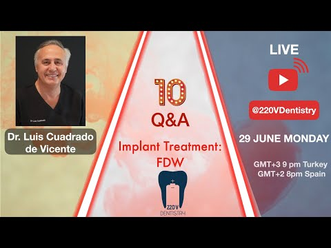 Dr. Cuadrado will be sharing his knowledge and experience about implantology and digital dentistry with 10 questions.