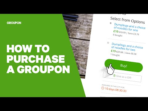 How to Purchase a Groupon Goods Deal