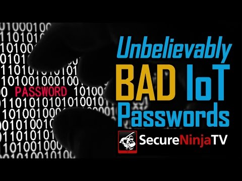 The WORST IoT Passwords at RSA 2016