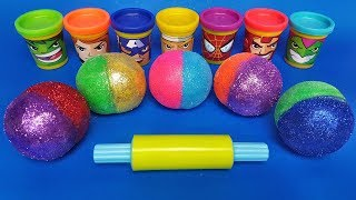 Learn Colors with Colored Balls out of Play Doh | Making Figurines | Learn Numbers | Video for Kids
