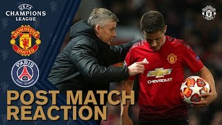 Solskjaer & Herrera reflect on PSG defeat   Manchester United 0-2 PSG   UEFA Champions League