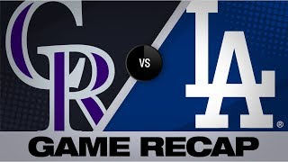 Homers power Dodgers in 16-9 victory | Rockies-Dodgers Game Highlights 9/2/19
