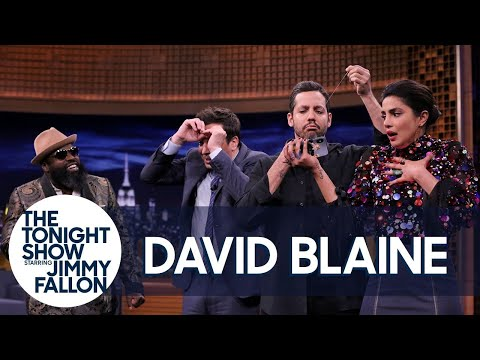 David Blaine Sews His Mouth Shut in Insane Trick (w/Jimmy, Priyanka Chopra & The Roots)