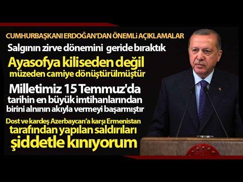 Cumhurbaşkanı Erdoğan; Dost ve Kardeş  Azerbaycan'a Yapılan Saldırıyı Şiddetle Kınıyorum