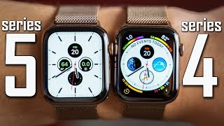 Apple Watch Series 5 vs Series 4 - Full Comparison!