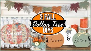 *3 NEW EASY* DIY DOLLAR TREE FALL DECOR 🍁PUMPKIN WREATH