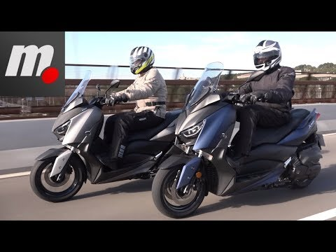 Yamaha XMAX 400 vs Yamaha XMAX 300 | Comparativo / Test / Review en español | motos.net