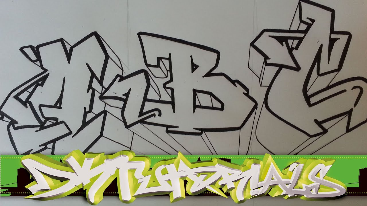 How to draw graffiti wildstyle - Graffiti Letters ABC step ...
