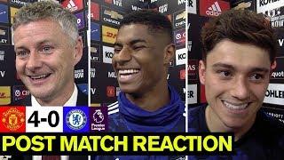 Solskjaer, Rashford and James delighted with win over Chelsea   United 4-0 Chelsea   Reaction