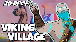I Dropped Viking Village 20 Times And This Is What Happened (Fortnite)