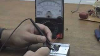 Teste de transistor IGBT