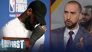 Nick Wright on LeBron's hand injury post-Game 1 costing The King a ring   NBA   FIRST THINGS FIRST