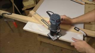 Приспособление для фрезерование узоров - Drawing router jig