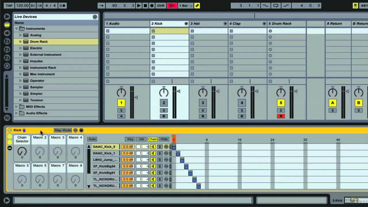 ableton live organise your samples using drum racks part 1 3 youtube. Black Bedroom Furniture Sets. Home Design Ideas