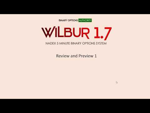 WILBUR1.7 NADEX 5 Minute Binary Options System Review Preview 1