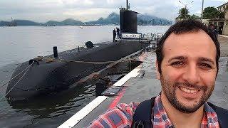 Andamos em um submarino da Marinha!!! #Boravê