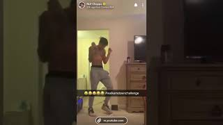 Nle choppa dances to walk em down challenge . And does the tik  tok renegade dance.