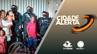 Garoto autista ganha bicicleta de Policiais do Raio