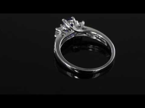Browns Family Jewellers Sapphire and Diamond Trilogy Ring