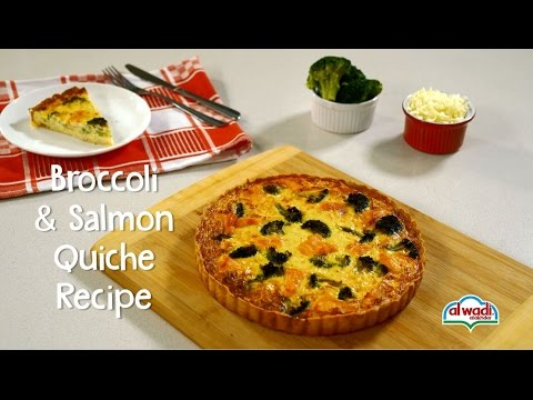 Broccoli & Salmon Quiche Recipe
