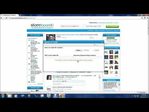 How To Upload Your Audio On Storeboard - LJD Enterprise  Media Design - Sour Lake - Texas.flv