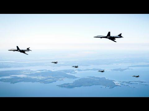 Försvarsmakten övade med amerikanska flygvapnet
