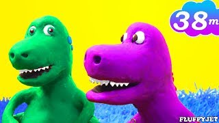 Dinosaur Play dough Stop Motion with T-Rex