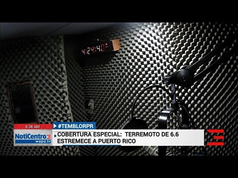 Puerto Rico earthquake caught on camera